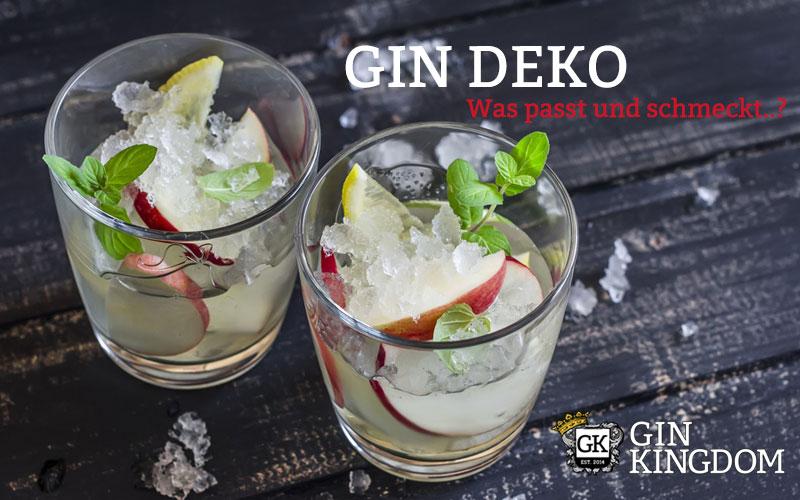 Gin Deko: Das Auge trinkt mit